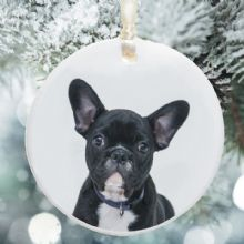 Pet Photo Ceramic Christmas Tree Decoration - Xmas Tree Bauble Personalised - Ideal for any Pet Lover
